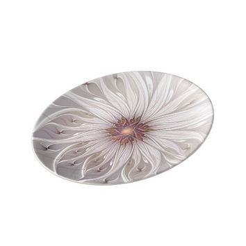 Floral Fantasy Abstract Fractal Art Dinner Plate