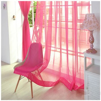 Practical Wear rod Solid color Shalian cut off window screening Blackout curtains 10 Colors