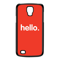 Hello Black Hard Plastic Case for Galaxy S4 Active by textGuy