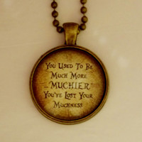 Alice In Wonderland Necklace. You've Lost Your Muchness. 18 Inch Ball Chain.
