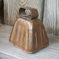 Vintage Rustic Cow Bell - Old Hand Forged Metal Cowbell - Country Farm Rustic Home Decor