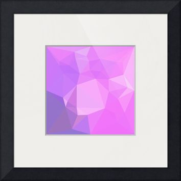 """Medium Orchid Abstract Low Polygon Background"" by Aloysius Patrimonio"