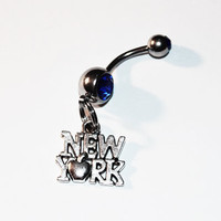 New York Belly Button Ring, Navel Ring, New York Jewelry, Belly Piercing