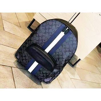 Coach hot seller of women's printed striped backpacks