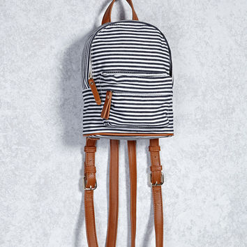 Striped Canvas Mini Backpack