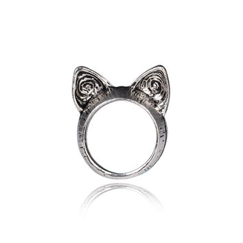 Vintage Cat Ears Ring