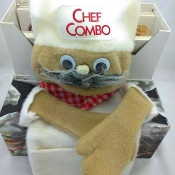 NEW CHEF PUPPET Food Early Choices Nutrition Learning Sesame StreetChild Vintage
