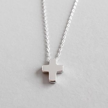 925 sterling silver cross pendant necklace best friend gift collier bijoux, fashion women necklaces pendants collares jewelry