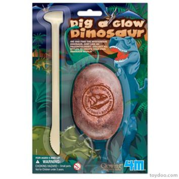 4M Dig a Glow Dinosaur - Toysmith - Pack of 12 ea