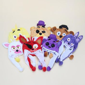 At   Plush Toy Freddy Fazbear Foxy Bonnie Chica Beanie Hat Winter Women Men Children Warm Fluffy cap