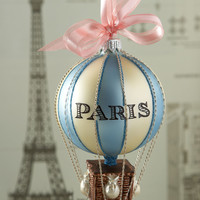 Paris Hot Air Balloon Christmas Ornament - Cortina