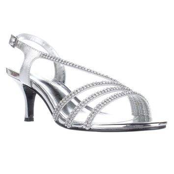 Caparros Bethany Slingback Dress Sandals, Silver, 7.5 US