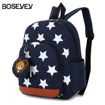 BOSEVEV Children Bags for Boys Kindergarten Nylon Children School Bags Printing Baby Girl School Backpack Cute Children Backpack