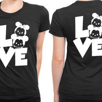 ONETOW Mickey Minnie Disney 2 Sided Womens T Shirt