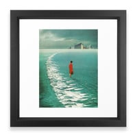 Society6 Waiting For The Citie Framed Print