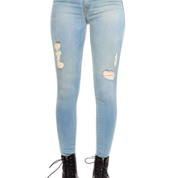 Hollywood Mid Rise Super Skinny Jeans - PLASTICLAND