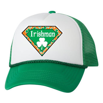 Irisman superman dual color trucker hat