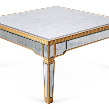 Rowan Antiqued Coffee Table, Gold, Outdoor Coffee U0026 Cocktail Tab