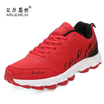 2018 Newest PU Leather tennis Shoes for Men Women Gym Shoes Comfort Air Cushion Sneakers for Outdoor Sports Shoes Men Trainers