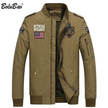 BOLUBAO Bomber Jackets Men 2018 New Winter Military Jacket Men Autumn Jackets Mens Coats Army Outdoors Army Jacket Coat