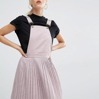 Boohoo | Boohoo Pleated Pinafore Dress at ASOS