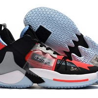 Jordan Why Not Zer0.2 Low - Black/Gray/Orange