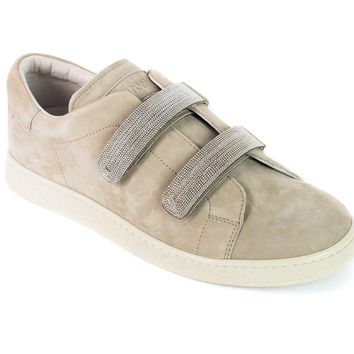 Brunello Cucinelli Womens Brown Leather Monili Sneakers
