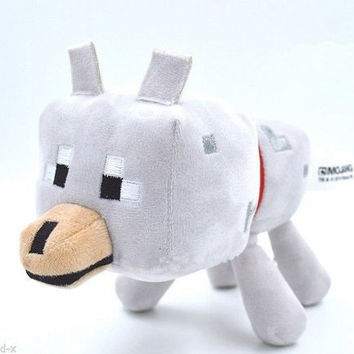 23cm Minecraft Game Toys High Quality Minecraft Wolf Plush Dolls Toy Soft Stuffed Toys Brinquedos For Kids Birthday Gifts
