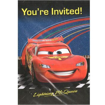 Disney Pixar Cars 2 Party Invitations [8 Per Pack]