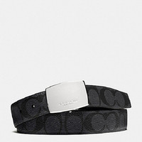 Cheap COACH men's Fashion Smooth Buckle Belt Leather for sale 055