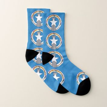 All Over Print Socks with Flag of Northern Mariana