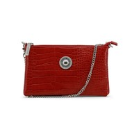 Versace Red Synthetic Leather Clutch Bag
