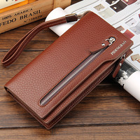 Brand New Men's Wallets Fashion Leather Man Hasp Pouch Quality Purse Men's Long Card Holder Luxury Business Clutch Wallet