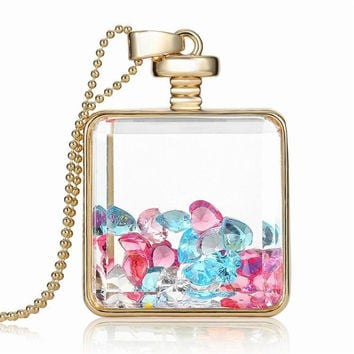Colourful Glass Box Necklace