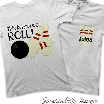 Bowling Party Pack Iron on Transfer - Personalized Bowling Shirts / Bowling Birthday Party / Kids Clothing Shirts / Printable Iron on Design