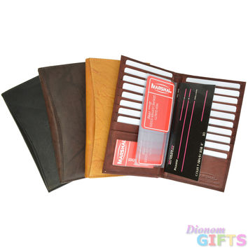 Luxurious Leather Bifold Wallet with Extra Room for Credit Card Holder