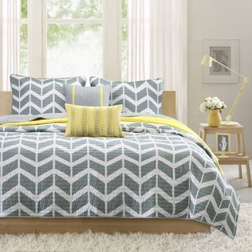 Nadia Coverlet Set - Yellow - Gifts for You and Me