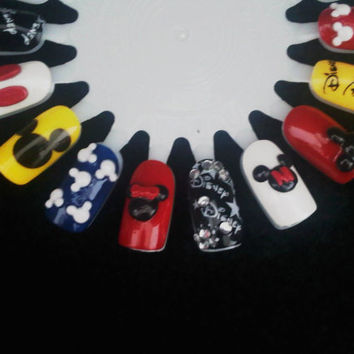 Mickey & Minnie Disney 3d Nail Art Set