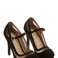 ModCloth Luxe Soiree It Again Heel in Black