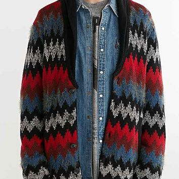 Koto Chevron Shawl Cardigan- Black