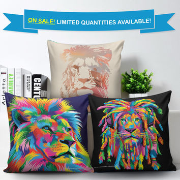 Custom Art Lion Pillow Covers