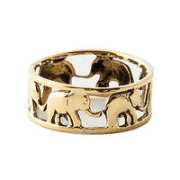 Accessories Boutique Ring Elephant Family Gold