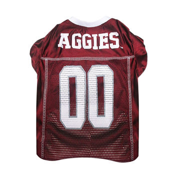 Mirage Pet Products Sports Dog Apparel Texas A&M Aggies Pet Jersey Costume Outfit XS