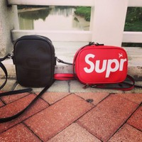 Supreme Fashion Leather Daypack Travel Bag