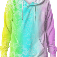 RAINBOW LOVE SPLATTER Hoodie created by Christy Leigh | Print All Over Me