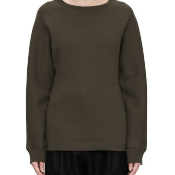 Acne Studios Word Olive Green Fitted Sweatshirt