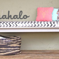 Mahalo saying wall decals stickers for any space - text wording wall tattoo by 3rd Ave Shore Maui Big Island Kauai Oahu