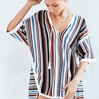 Ecote Vert Stripe Beach Tunic Sweater
