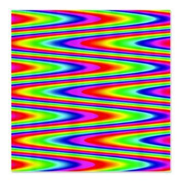 Psychedelic Rainbow Zig Zag Pattern Shower Curtain> Rainbow Patterned Gifts> Hippy Gift Shop Funky Hippie Gifts