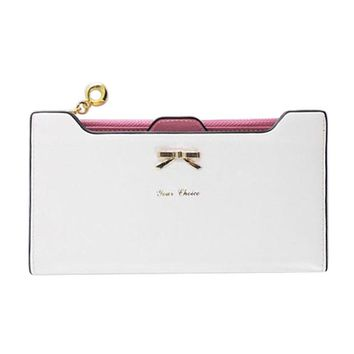 Lovely Knot Women Wallet Long Purse PU Leather Cards Holder Clutch Bag Fashion Female Phone Pocket Purse Wallet Carteira